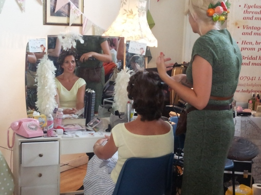 Hairdressers on hand for transformations