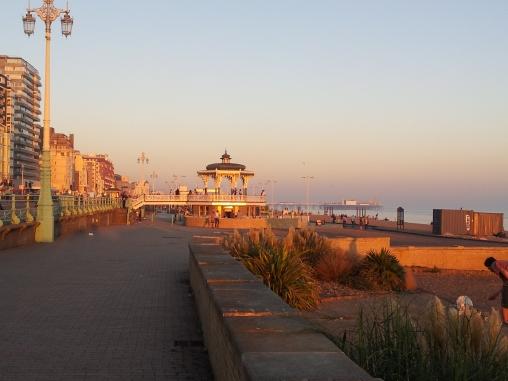 Brighton beach as the sun was setting