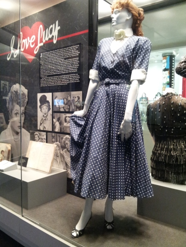 The dress on display!
