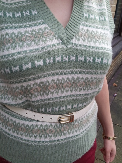 Close up of my pullover