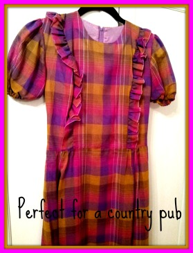 Long checked vintage dress