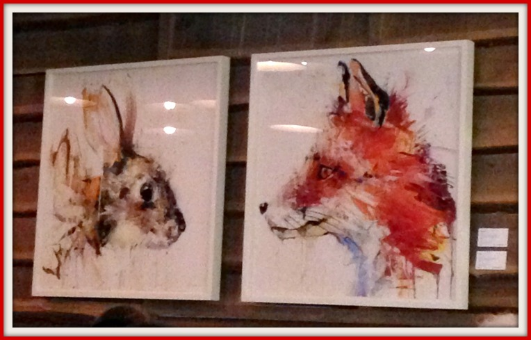 The Fox picture would look perfect in my house