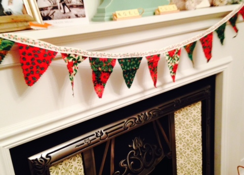 Every fireplace needs bunting