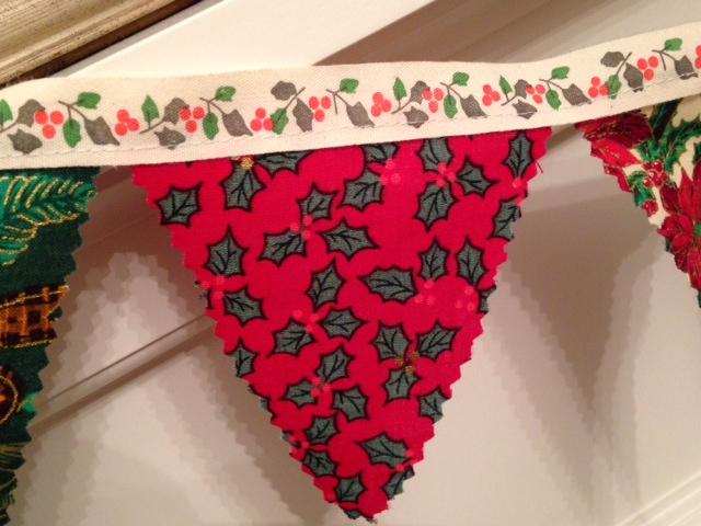 The fabric is very festive I felt