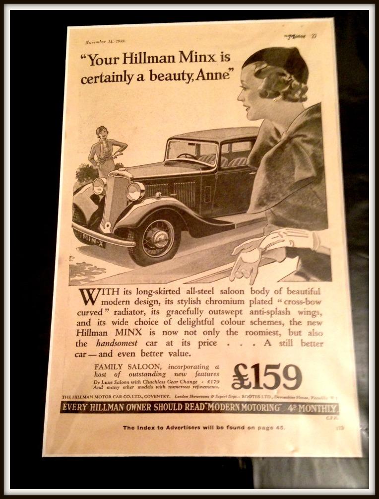 A Vintage advert