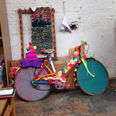 Never seen a knitted bike before!