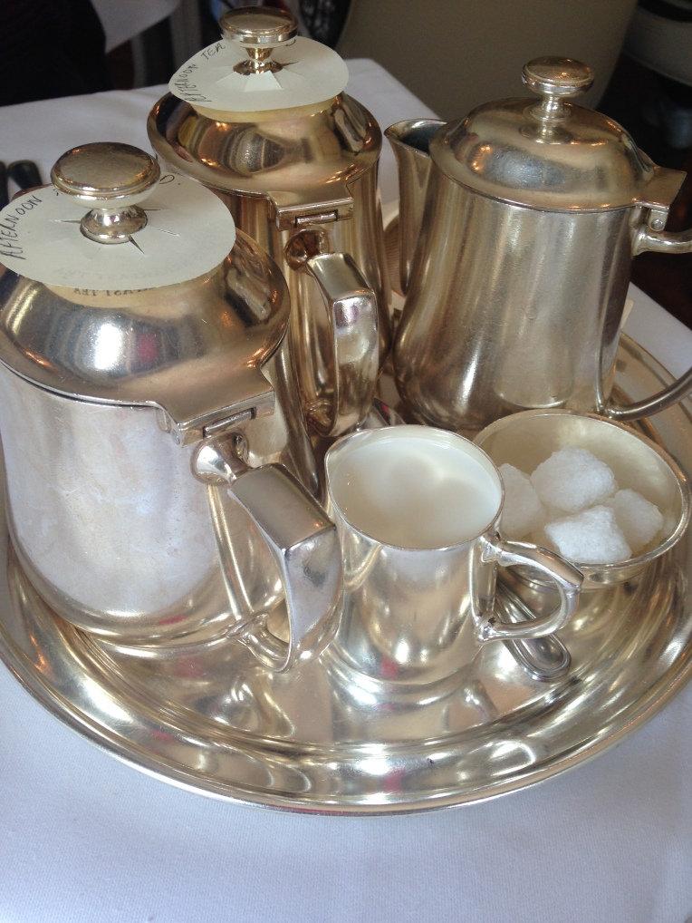 Silver is perfect for tea