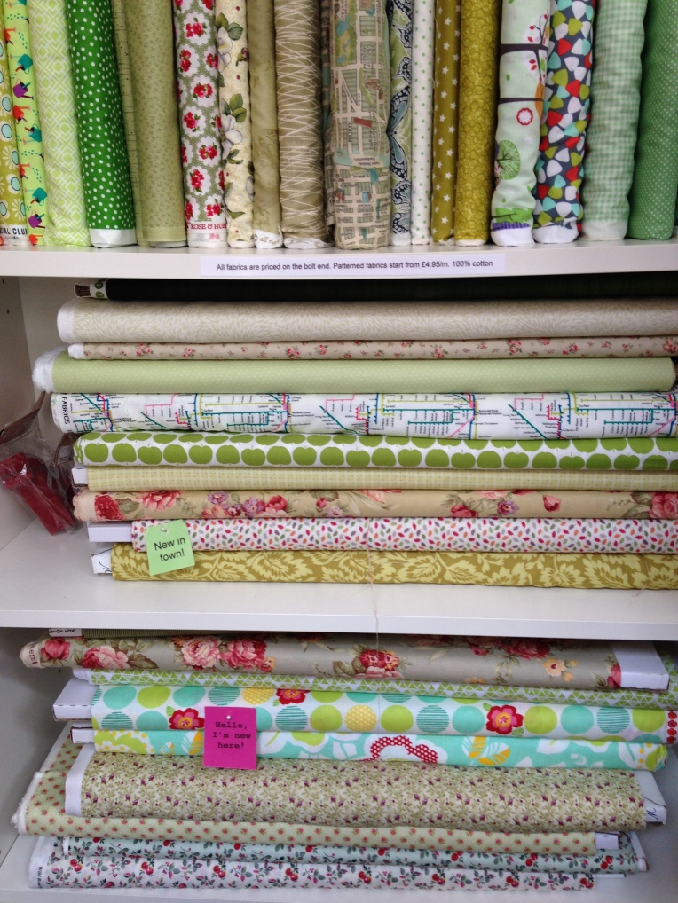 I liked the apple fabric - can you see it?